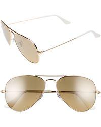 Ray-Ban - Small Original 55mm Aviator Sunglasses - Arista - Lyst
