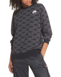 c7f3783b2795 Nike - Air Print Women s Crewneck Top - Lyst