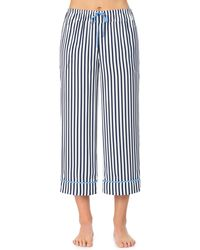 Room Service Cropped Pajamas Pants - Blue