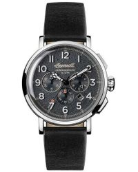 INGERSOLL WATCHES   Ingersoll St. John Chronograph Leather Strap Watch   Lyst