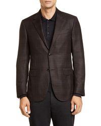 Ermenegildo Zegna Ermenegildo Zenga Milano Easy Classic Fit Plaid Wool Sport Coat - Brown