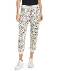 The Great The Cropped Sweatpants - White