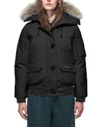 Canada Goose - Chilliwack Hooded Down Bomber Jacket With Genuine Coyote Fur Trim - Lyst