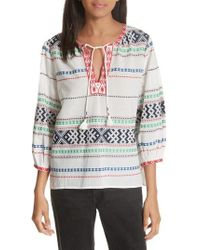 Joie - Jenollina Embroidered Top - Lyst