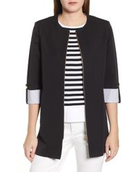 Ming Wang - Roll Sleeve Jacket - Lyst
