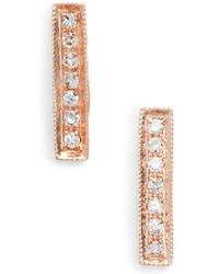 Dana Rebecca - 'sylvie Rose' Diamond Bar Stud Earrings - Lyst