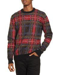 Wesc Anwar Tartan Crewneck Sweater - Black