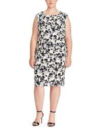 Lauren by Ralph Lauren - Floral Print Jersey Dress - Lyst