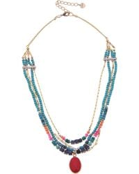 Nakamol - Nakamol Beaded Layered Necklace - Lyst