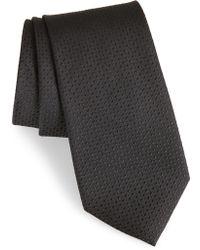 Calibrate Clara Solid Silk Tie - Black