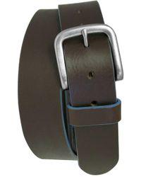 Boconi 'bastian' Bison Leather Belt - Brown