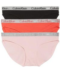 CALVIN KLEIN 205W39NYC 'radiant' Stretch Cotton Bikini - Black