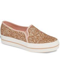 Kate Spade Keds X Kate Spade New York Triple Decker Glitter Slip-on Sneaker - Pink