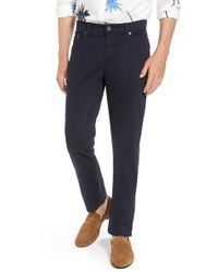 Brax Prestige Stretch Cotton Pants - Blue