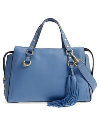 Cole Haan - Cassidy Rfid Pebbled Leather Satchel - Lyst