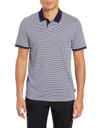 Ted Baker - Gingen Trim Fit Stripe Polo - Lyst