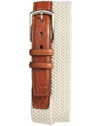 Torino Leather Company - Woven Cotton Belt - Lyst