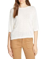 Joie Brikly Pointelle Sweater - White