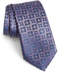 Canali Medallion Silk Tie - Pink
