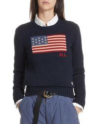 Polo Ralph Lauren Flag Sweater - Blue