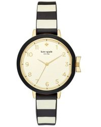 Kate Spade - Park Row Silicone Strap Watch - Lyst