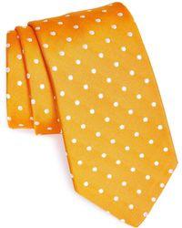 Gitman Brothers Vintage Polka Dot Silk Tie - Yellow
