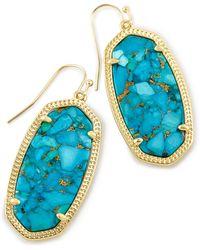 Kendra Scott 'elle' Drop Earrings - Blue