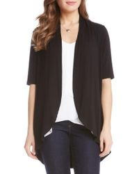 Karen Kane   'sophie' Short Sleeve Jersey Open Front Cardigan   Lyst