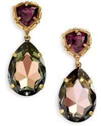 Sorrelli Pear Crystal Statement Earrings - Multicolor
