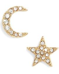 Kate Spade - Celestial Stud Earrings - Lyst