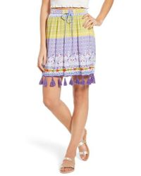 Raga - Tropic Bird Tassel Trim Skirt - Lyst