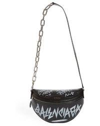 Balenciaga - Graffiti Souvenir Leather Belt Bag - - Lyst