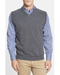 Cutter & Buck - 'broadview' V-neck Sweater Vest - Lyst