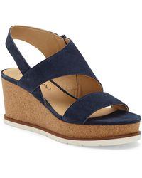 Lucky Brand Bylanna Platform Wedge Sandal - Blue