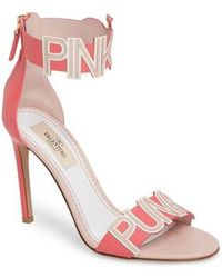 Valentino | Pink Is Punk Ankle Strap Sandal | Lyst