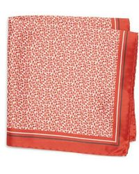 BOSS - Floral Silk Pocket Square - Lyst