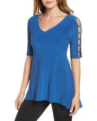 Chaus - Cutout Sleeve Sharkbite Top - Lyst