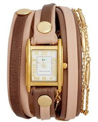 La Mer Collections - Leather & Lipari Chain Wrap Watch - Lyst