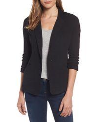 Caslon Knit One-button Blazer - Black