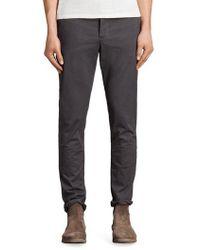 AllSaints - Park Skinny Fit Chino Pants - Lyst
