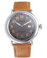 Shinola | Runwell Leather Strap Watch | Lyst