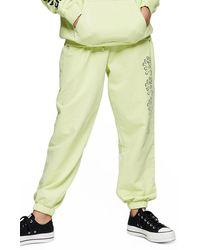TOPSHOP Escapology Lime Green Sweatpants