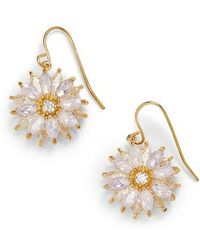 Nina - Layered Floral Drop Earrings - Lyst