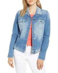 6b60c15eb Lyst - Kut From The Kloth Emma Boyfriend Jacket in Blue