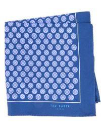 Ted Baker - Wheel Medallion Silk Pocket Square - Lyst