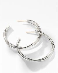 David Yurman - Continuance Large Hoop Earrings - Lyst