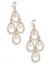 Nadri | Crystal Chandelier Earrings | Lyst