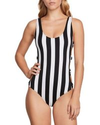 Volcom - Stripe Club One-piece Swimsuit - Lyst