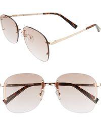 Le Specs Skyline 59mm Rimless Sunglasses - Multicolor