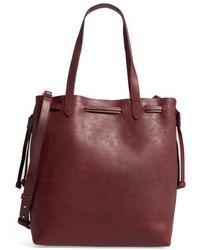 Madewell - Medium Drawstring Transport Leather Tote - - Lyst